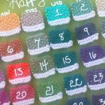 How to Knit a Pantone Paint Chip Calendar DIY using Dry Erase Pens