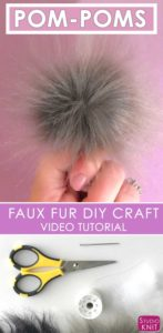I'm learning how easy and affordable it is to make my own Faux Fur Pom-Poms with Studio Knit #StudioKnit #pompom #diycraftidea #fauxfur