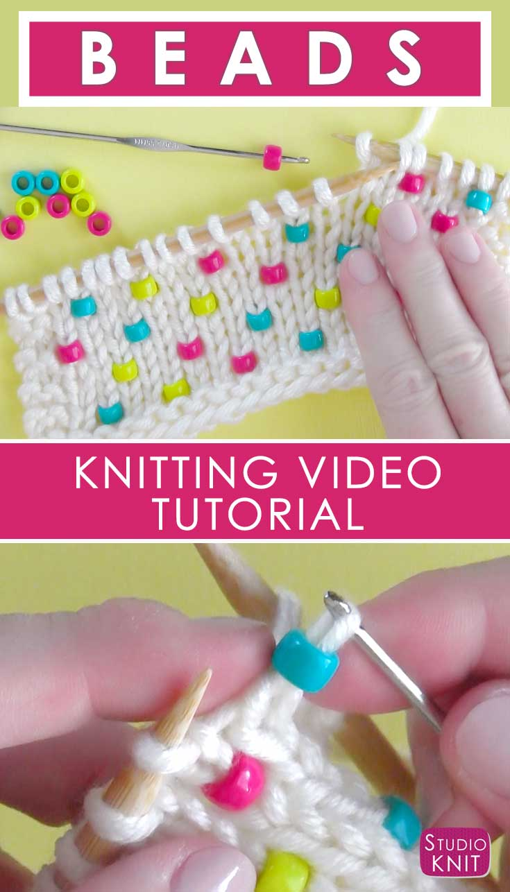 I'm learning how to Knit Beads into any project with Studio Knit - Super Easy!