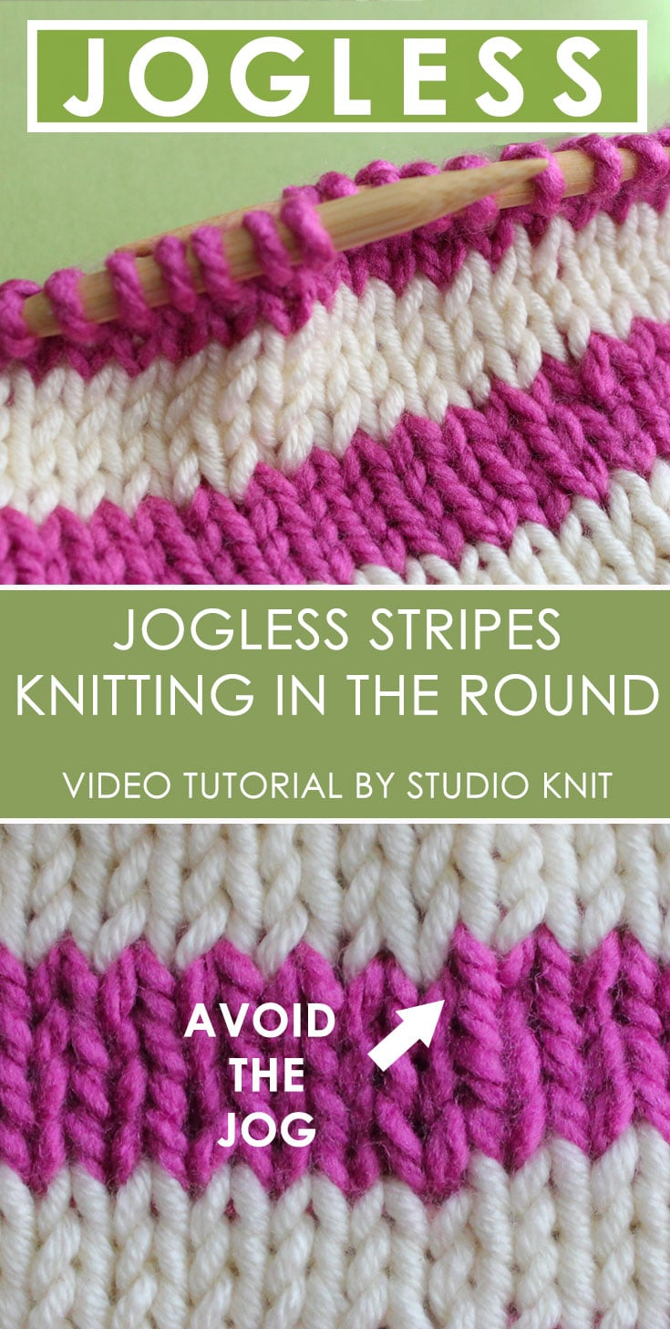 How to Knit Jogless Stripes in the Round with Video Tutorial ...