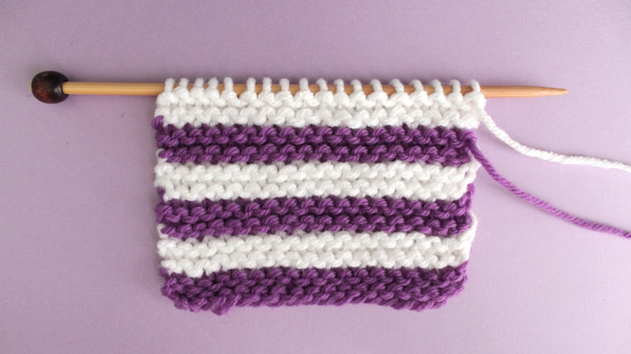 How to Knit Stripes with Studio Knit - Garter Stitch Pattern