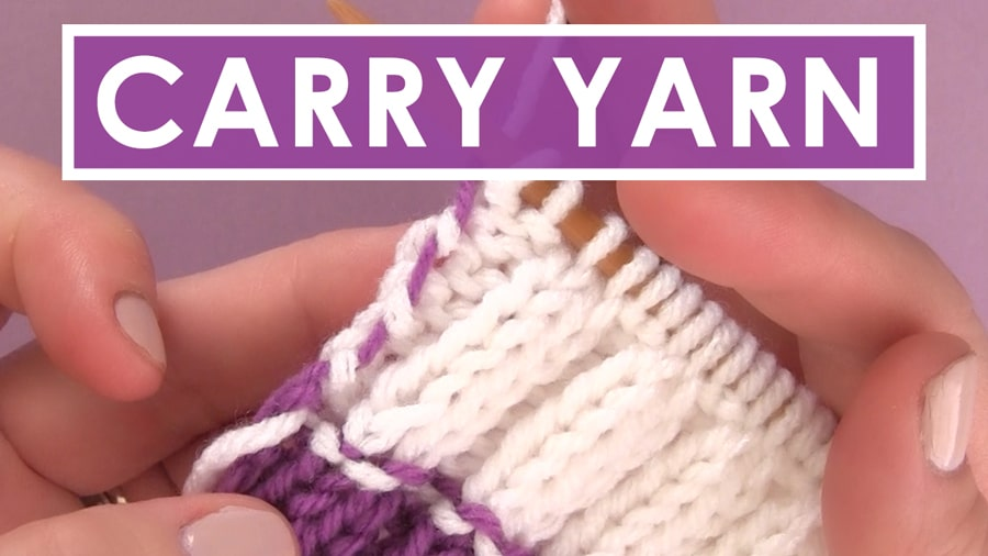 How to Carry Yarn Up the Side of Your Work with Video Tutorial by Studio Knit