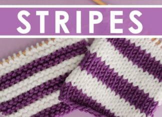 How to Knit Stripes with Studio Knit - Garter and Stockinette Stitch Pattern
