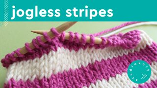 Knit Jogless Stripes in the Round on Circular Needles