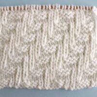 Diagonal Chevron Zigzag Stitch Printable Knitting Pattern