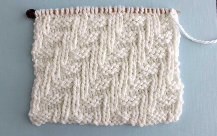Diagonal Chevron Zigzag Stitch Knitting Pattern | Studio Knit