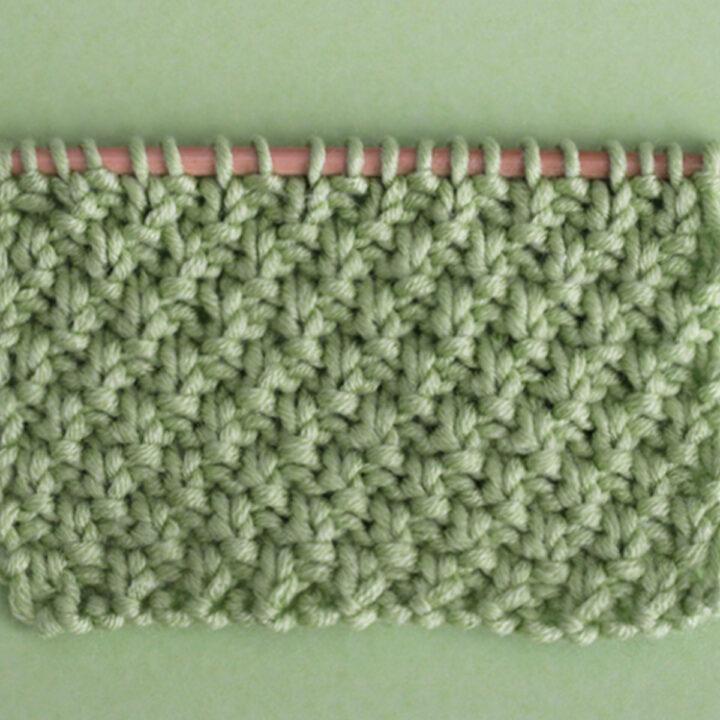 Irish Moss Stitch Knitting Pattern