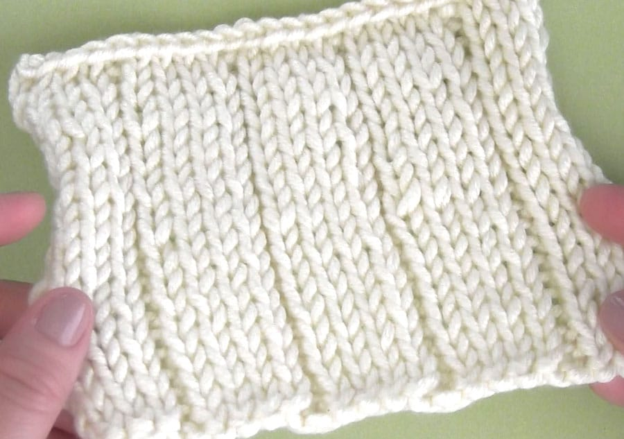 Rib Stitch to Easily Knit Vertical Stripes using a Crochet Chain with Video Tutorial by Studio Knit