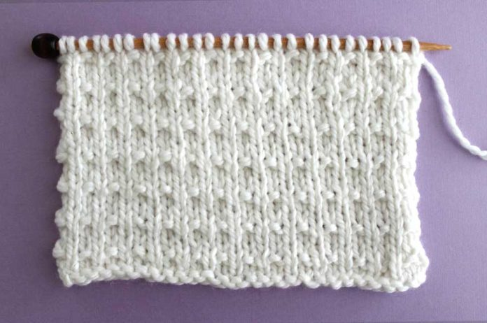 This vintage Andalusian Knit Stitch Pattern is a sweet little design.