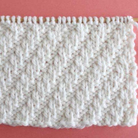 Diagonal Rib Stitch Printable Knitting Pattern