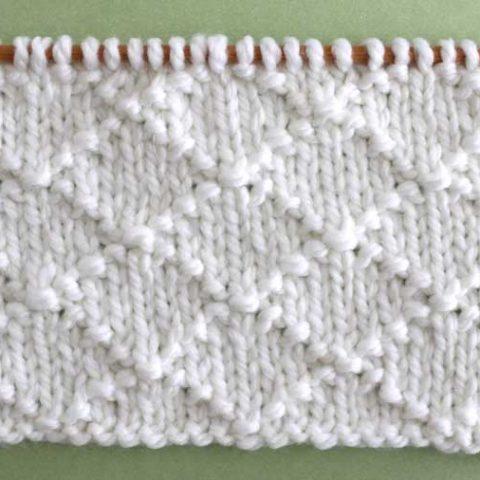 Diamond Brocade Stitch Printable Knitting Pattern