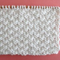 Double Moss Stitch Printable Knitting Pattern
