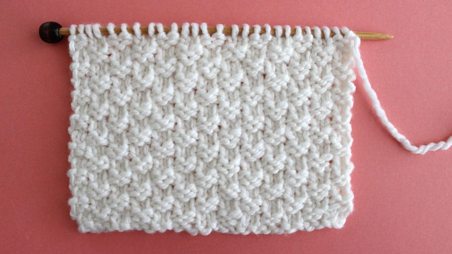 Double Moss Knit Stitch Pattern by Studio Knit with Free Pattern and Video Tutorial