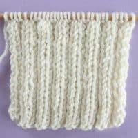 2x2 Rib Stitch Printable Knitting Pattern