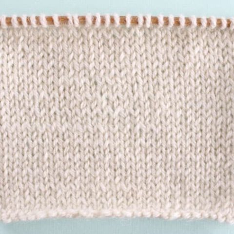 Stockinette Stitch Printable Knitting Pattern