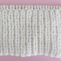 1x1 Rib Stitch Printable Knitting Pattern