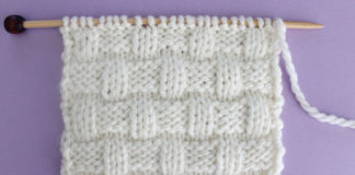 Basket Weave Knit Stitch Pattern. Get Free Written Patterns, Charts, and Video Tutorials in the Absolute Beginner Knitting Series by Studio Knit.