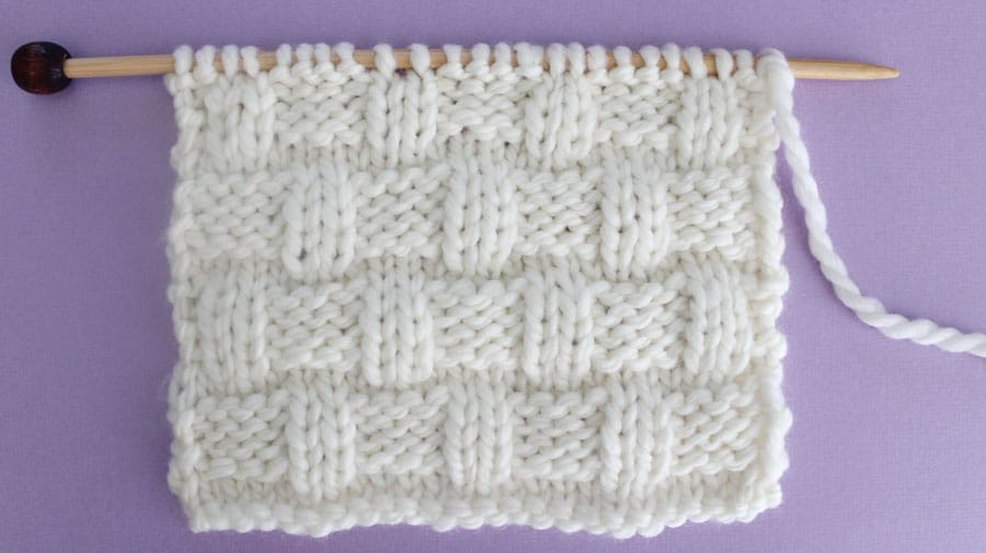 How To Knit The Basket Weave Stitch Pattern With Video Tutorial