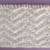 Chevron Seed Stitch Printable Knitting Pattern