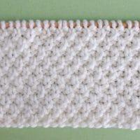 How to Knit the Irish Moss Knit Stitch Pattern