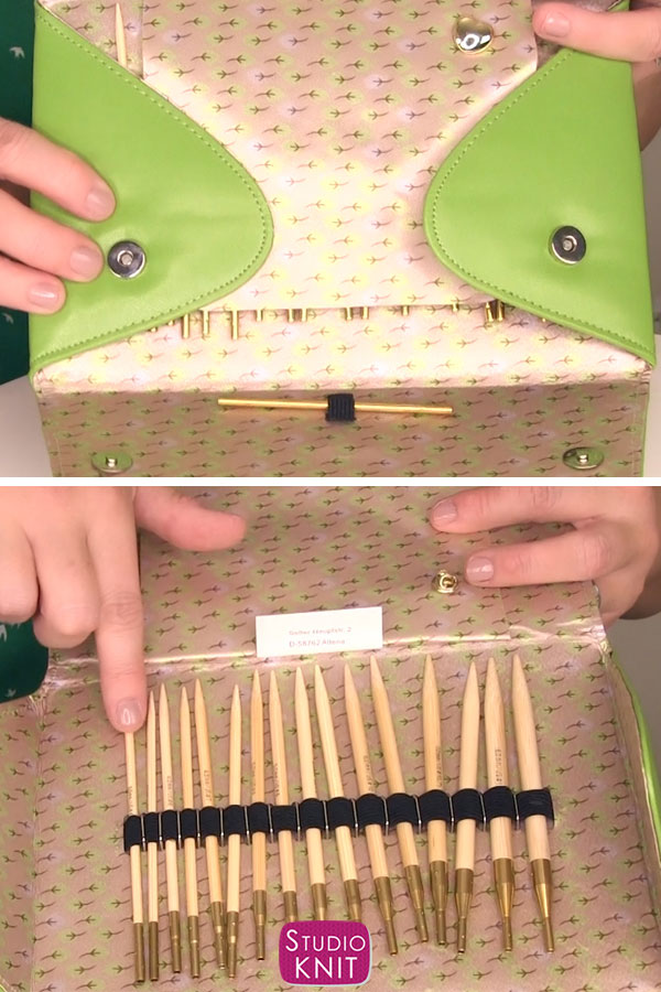 Inside of Case Interchangeable Knitting Needles Review of Addi Click by Studio Knit