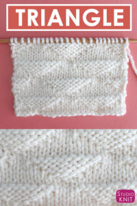 Triangle Knit Stitch Pattern and Chart with Studio Knit