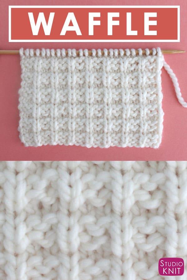 Waffle Knit Stitch Pattern With Video Tutorial Studio Knit