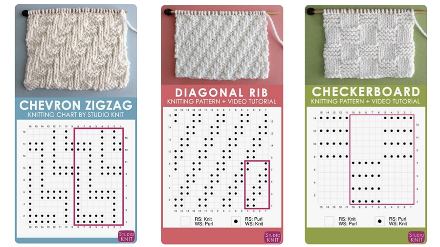How to Read a Knitting Chart for Absolute Beginners with Studio Knit