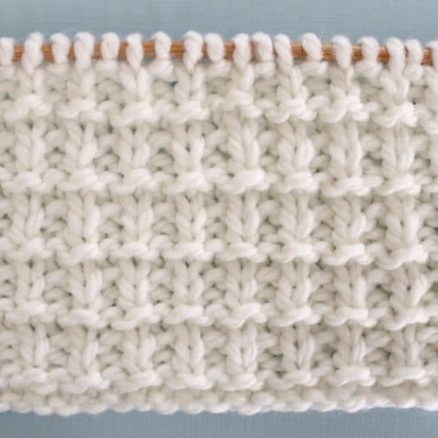 Hurdle Knit Stitch Pattern and Video Tutorial by Studio Knit