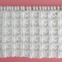 Waffle Stitch Printable Knitting Pattern