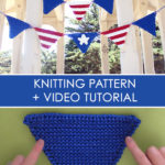Pennant Banner Knitting Pattern and Video Tutorial by Studio Knit
