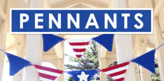 Pennant Banner Knitting Pattern by Studio Knit