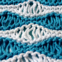 Sea Foam Wave Drop Stitch Knitting Pattern and Video Tutorial