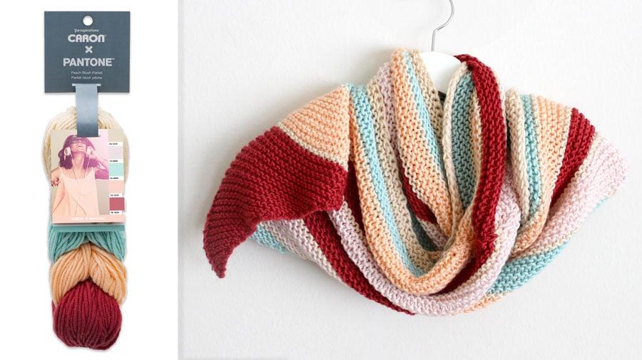 Caron X Pantone Asymmetrical Knit Shawl with Studio Knit