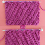 Diagonal Rib Knit Stitch Pattern by Studio Knit with Free Pattern and Video Tutorial by Studio Knit