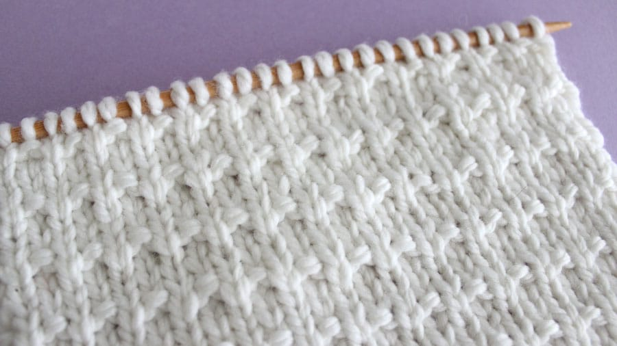 Andalusian Knit Stitch Pattern by Studio Knit with Free Pattern and Video Tutorial