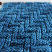 Diagonal Chevron Zigzag Stitch Knitting Pattern and Video Tutorial