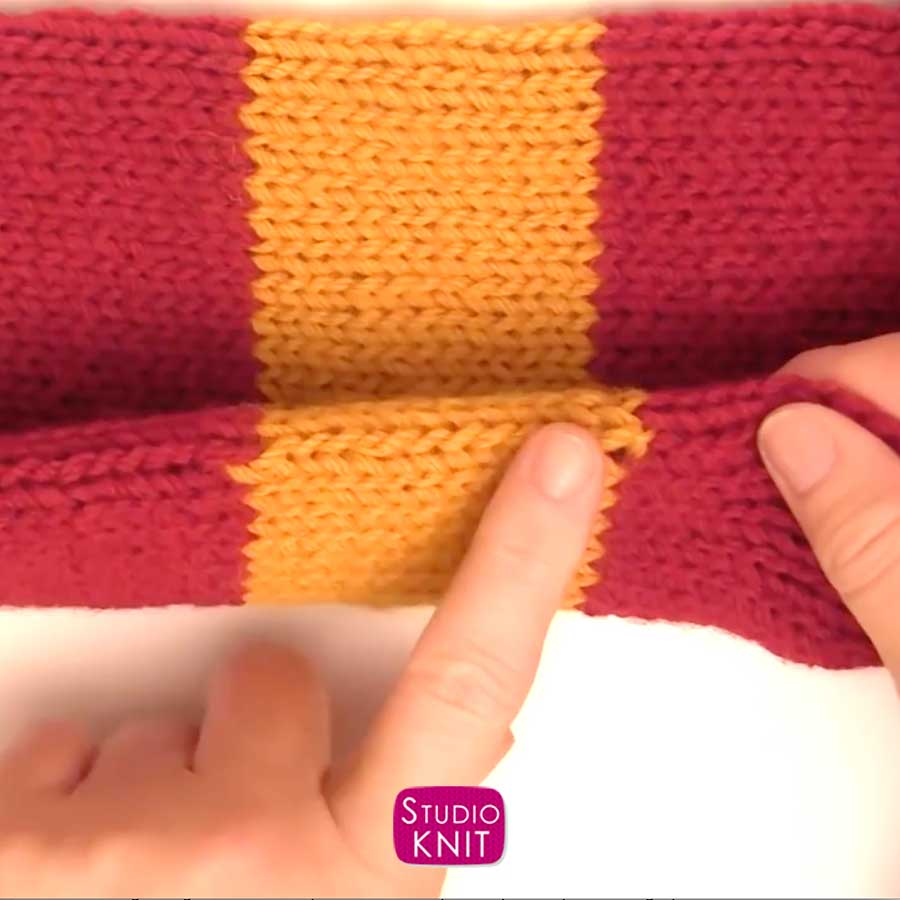 Harry Potter Scarf Knitting Pattern Casting Off Stitches for Edge