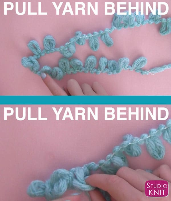How to Knit Stitch using Loop Yarn. Knitting for Kids with Studio Knit includes video tutorial!