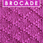 Diamond Brocade Knit Stitch Pattern by Studio Knit with Free Pattern and Video Tutorial