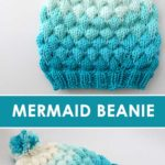 Knit a Bubble Beanie Hat by Studio Knit with Free Pattern and Caron x Pantone yarn.