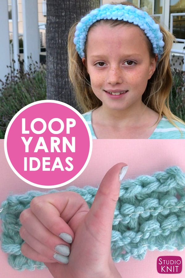 Headband Knitting Pattern with Loop Yarn for Kids with Studio Knit