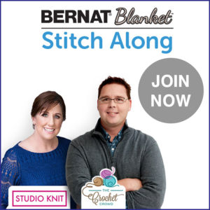 Join the Bernat Stitch Along with Studio Knit and The Crochet Crowd Fall 2018