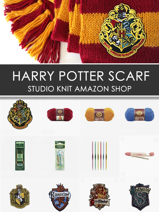 Shop Harry Potter Scarf knitting supplies and materials in the Studio Knit Amazon Shop