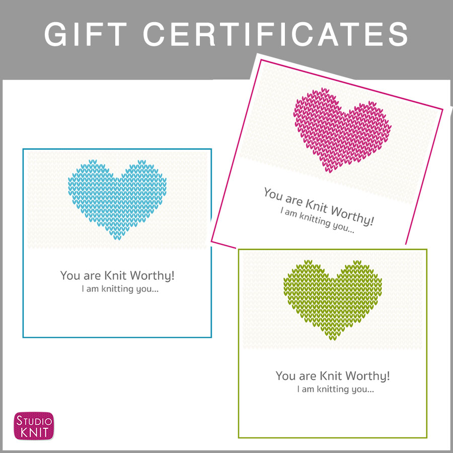 Free Printable Gift Certificates for Knitters