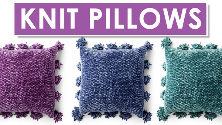 Knitted Velvet Pillow Pattern and Video Tutorial
