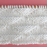 Triangle Stitch Printable Knitting Pattern