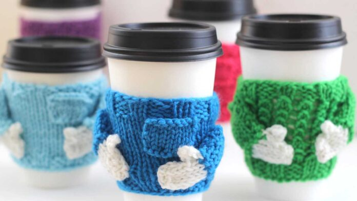 Coffee Cozy Sweater Knitting Pattern