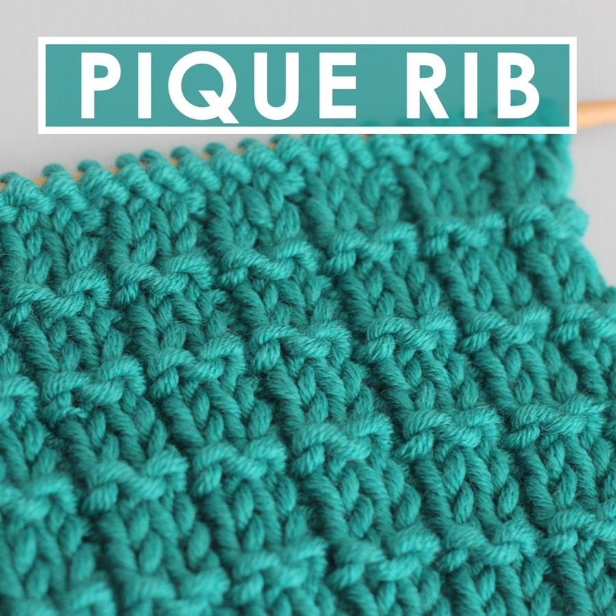 Pique Rib Knit Stitch Pattern with Video Tutorial by Studio Knit
