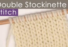 Double Stockinette Knit Stitch Pattern by Studio Knit